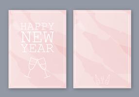 Livre Feliz Ano Novo Cartão Vector