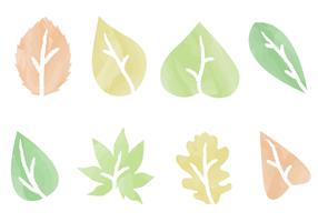 Vector de folhas de aquarela grátis