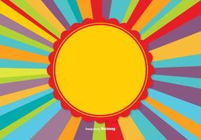 Fundo colorido do Sunburst vetor