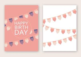 Livre Feliz Aniversário Cartão Vector