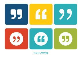 Conjuntos de ícones de citações vetor
