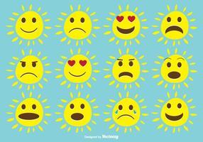 Bonito conjunto expressivo de sol