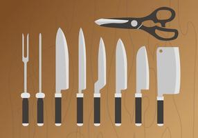 Vetor de embalagens de facas