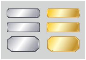 Nome Plate-Vector vetor