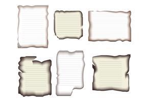 Borda de papel queimado vetor