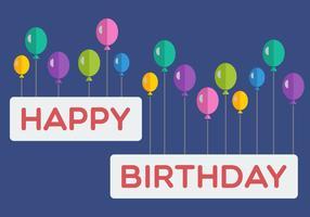 Bandeira do balão do feliz aniversario