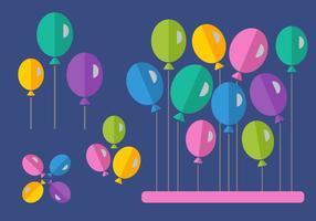 Balões de estilo plano gratuitos vetor