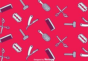 Padrão sem costura de Barber Tools vetor