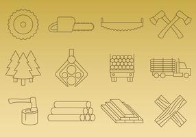 Ícones de vetores de serração