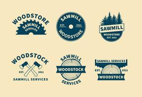 Vetores do logotipo da serra