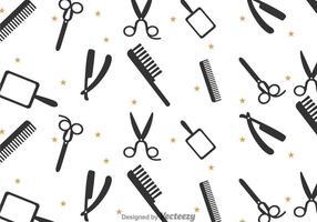 Padrão de ferramentas de barbeiro vetor
