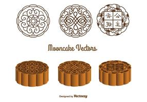 Vetores Mooncake Ornamentados