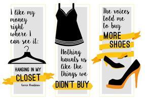 Fundo de vetor de moda motivacional gratuito com tipografia