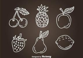 Frutas Hand Drawn Icon Vectors