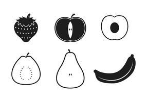 Ícones de frutas de goiaba vetor