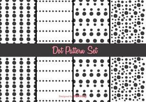 Conjunto de vetores de padrão de pontos preto e branco