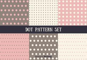 Conjunto de padrões de pontos de vetor rosa e marrom
