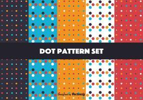 Conjunto de padrões de pontos brilhantes vetor