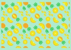 Vetor de padrões sem costura de abacaxi grátis