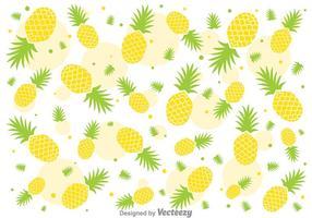 Padrão de vetor de abacaxi Fresh Ananas
