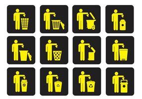 Vetores do lixo de lixo