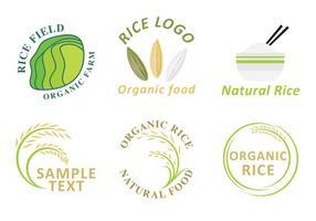 Vetores do logotipo do arroz