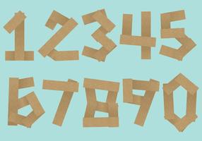 Vetores de número de registro de madeira