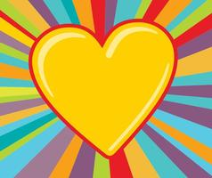 Fundo de explosão de coração colorido