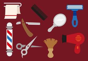 Ilustrações vetoriais de ferramentas de barbeiro vetor
