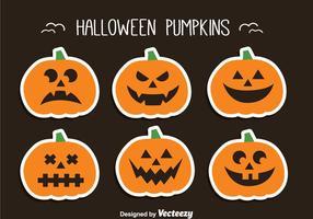 Conjunto de abóbora de Halloween vetor