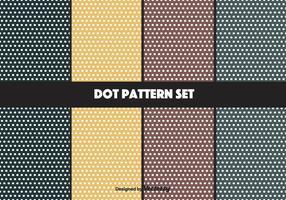 Conjunto de padrões de pontos de vetor de marinha e mostarda