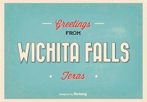 Retro wichita falls greeting illustration vetor