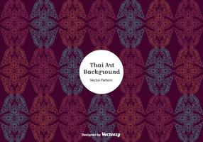 Vetor de padrão tailandês roxo grátis