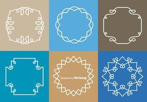 Vetores de fronteira de monogramas brancos