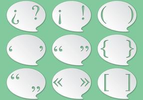A pontuação marca vetores de bolhas de fala
