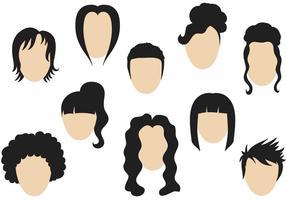 Vetores de penteado gratuitos
