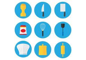 Ícone do conjunto de cozinha vetor