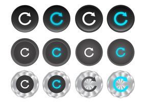 Vetores de botão de repetição