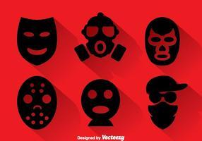 Coleção de máscaras de roubo vetor