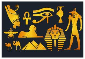 Elementos do Egito vetor