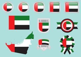 Bandeiras dos Emirados Árabes Unidos vetor