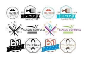 Logotipos Coiffure vetor