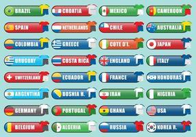Equipes internacionais vetor