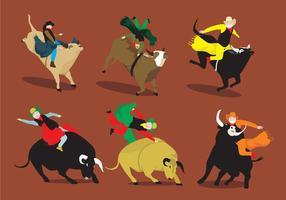 Vetores divertidos Bull Rider
