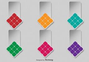 Modelo de etiquetas de ketupat