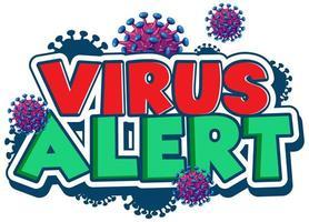 design de fonte para alerta de vírus de palavra vetor