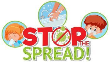 parar a propagação do cartaz covid-19 vetor