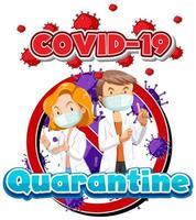 design de cartaz para quarentena de coronavírus vetor