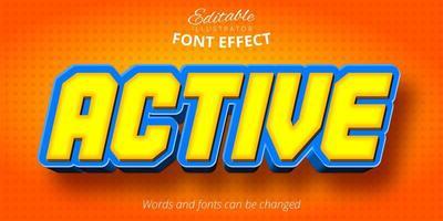 efeito de texto editável ativo vetor