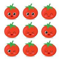 coleção de personagens de tomate vetor